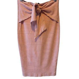 Zara Trafaluc Striped Front Tie Pencil Skirt